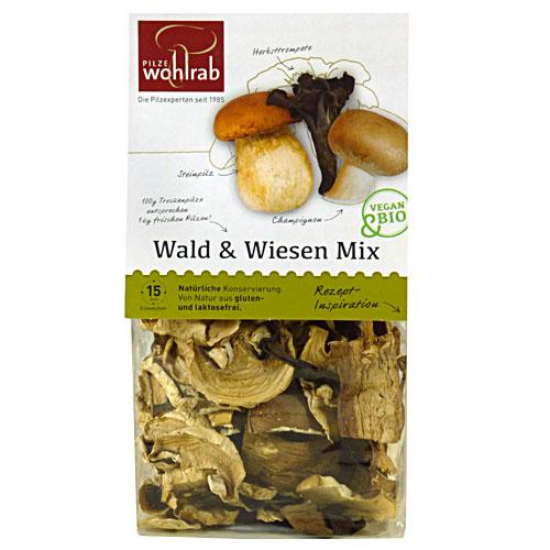 Wald & Wiesen Mix, Pilze getrocknet, Bio