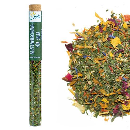 Glasröhrchen Blütenmischung für Salat, 7g