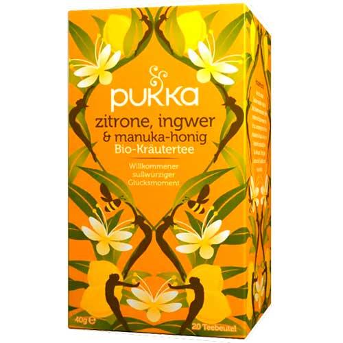 Pukka Zitrone, Ingwer & Manuka-Honig, BioteeAufgussbeutel