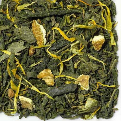 Grüner Tee Sencha Mandarin, Biotee
