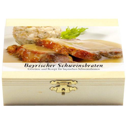 Bayrischer SchweinsbratenGeschenkholzkästchen