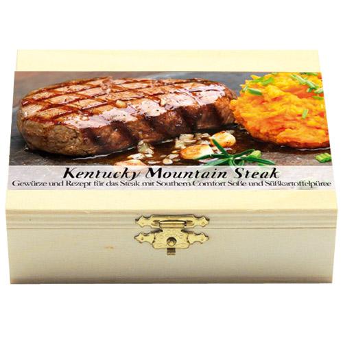 Kentucky Mountain SteakGeschenkholzkästchen