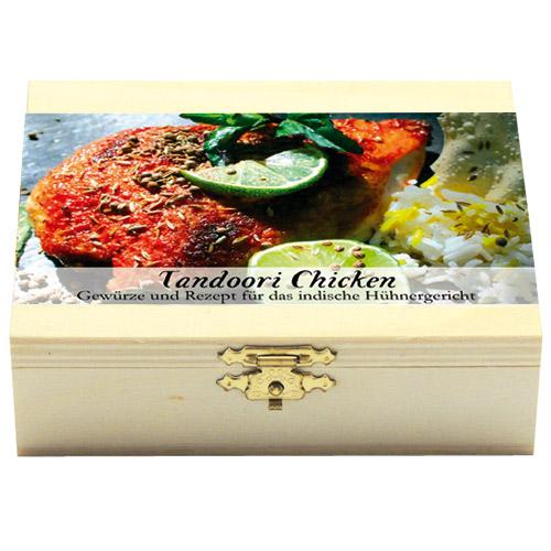 Tandoori ChickenGeschenkholzkästchen
